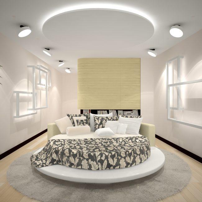 Katil pusingan dalam gaya moden