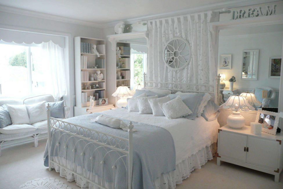 Gaya Provence di dalam bilik tidur