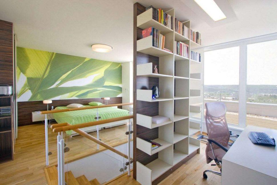 작업 공간과 침실을 분리하십시오.