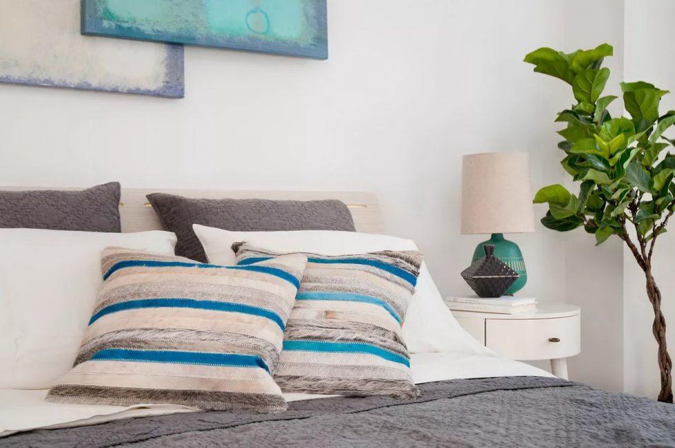 침실 인테리어 식물