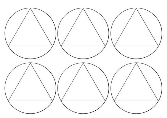 Aynı simetrik daireler için bir desen kullanın.