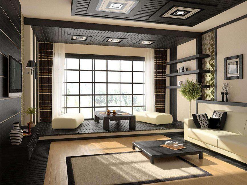 Oryantal tarzı oturma odası