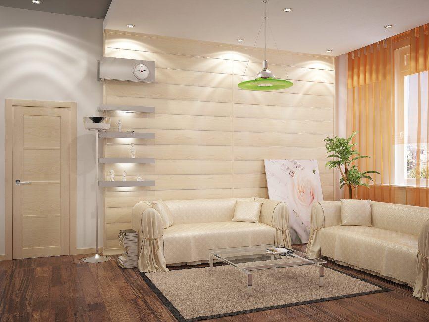 Pelapisan dinding dengan panel cahaya