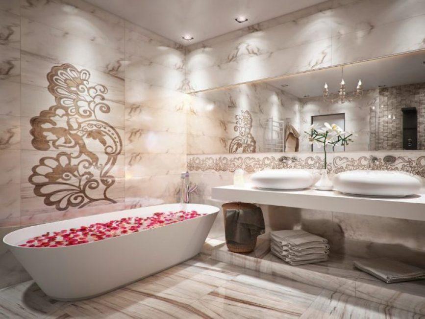 Panel panel MDF di bilik mandi