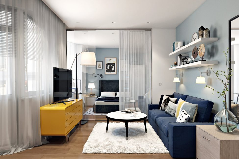 Combining the bedroom and living room