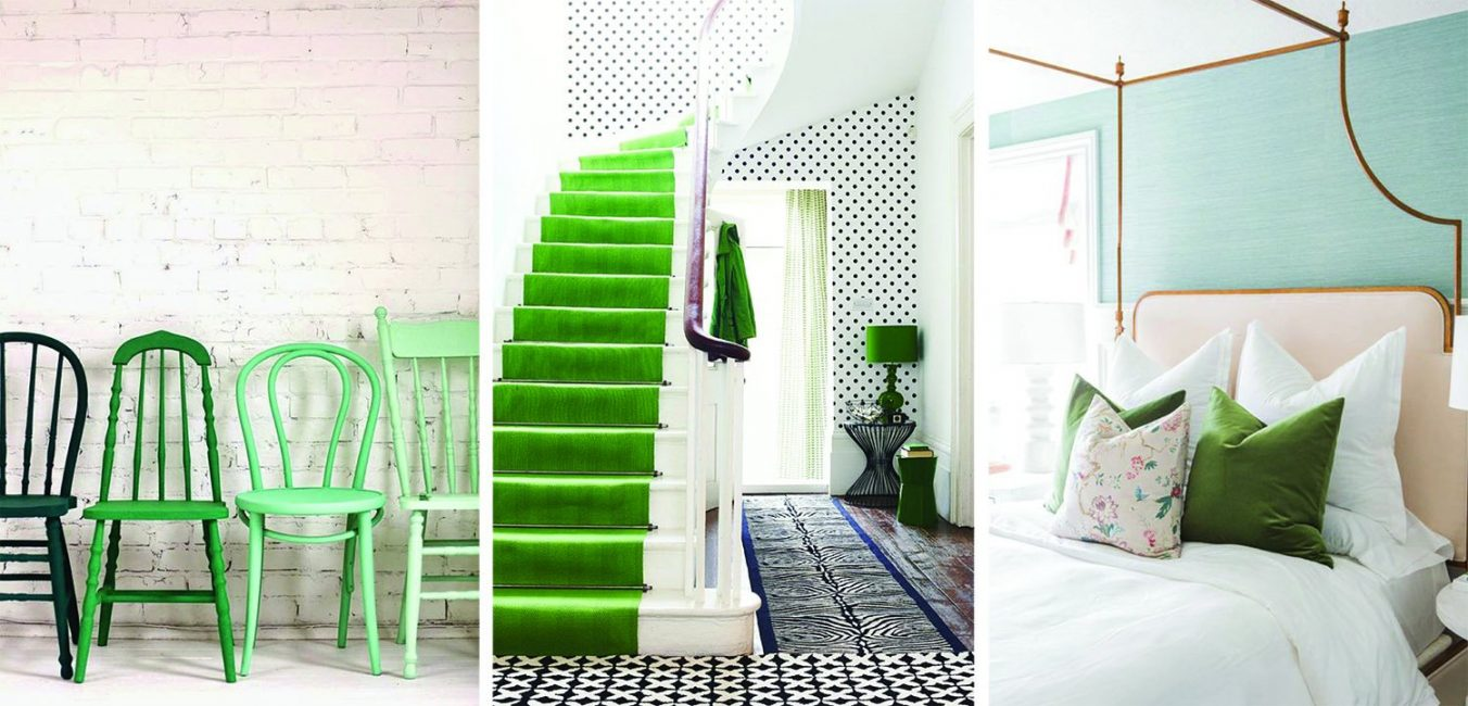 Greenery is the trend color of this year.