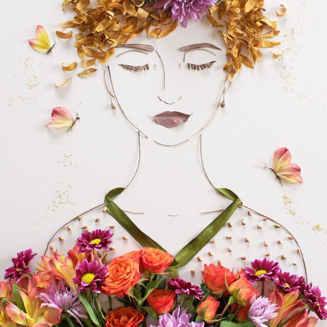 Hiaskan pakaian dengan bunga