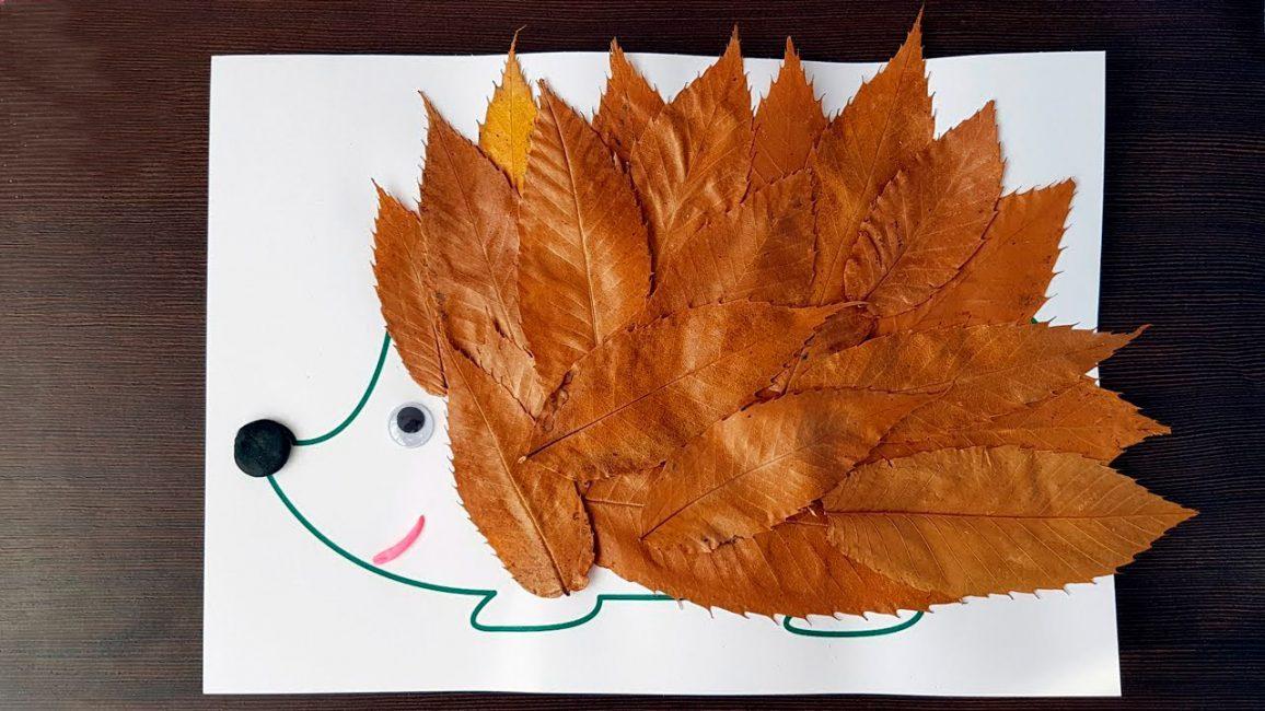 Daripada jarum, daun terpaku dengan ujung tajam