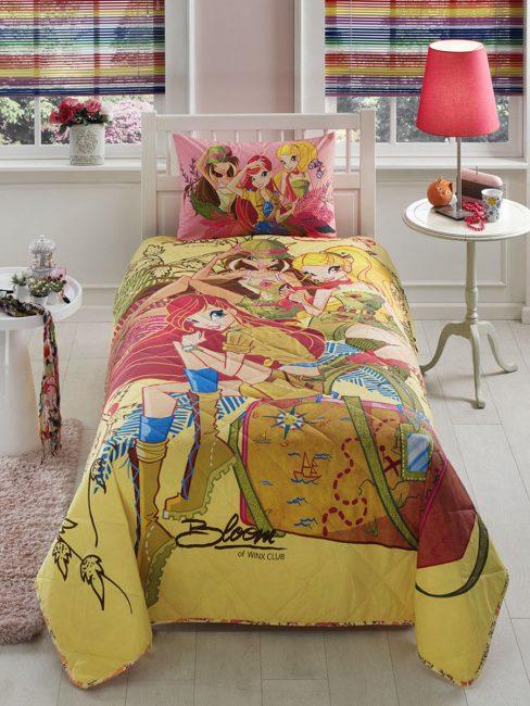 Kızlar odası için parlak battaniye