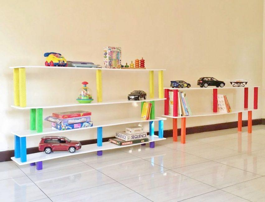 Kreativiti dewasa untuk bilik kanak-kanak