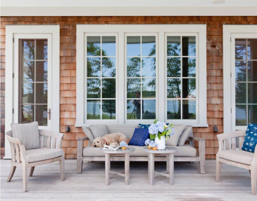 Terrasse confortable pour la détente