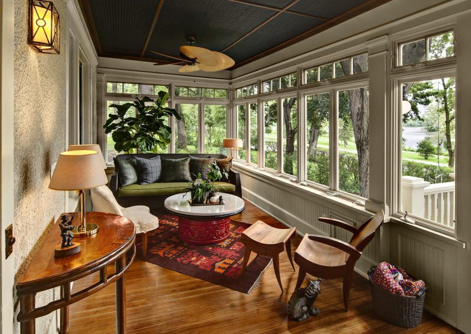 Les fenêtres panoramiques protègent des basses températures