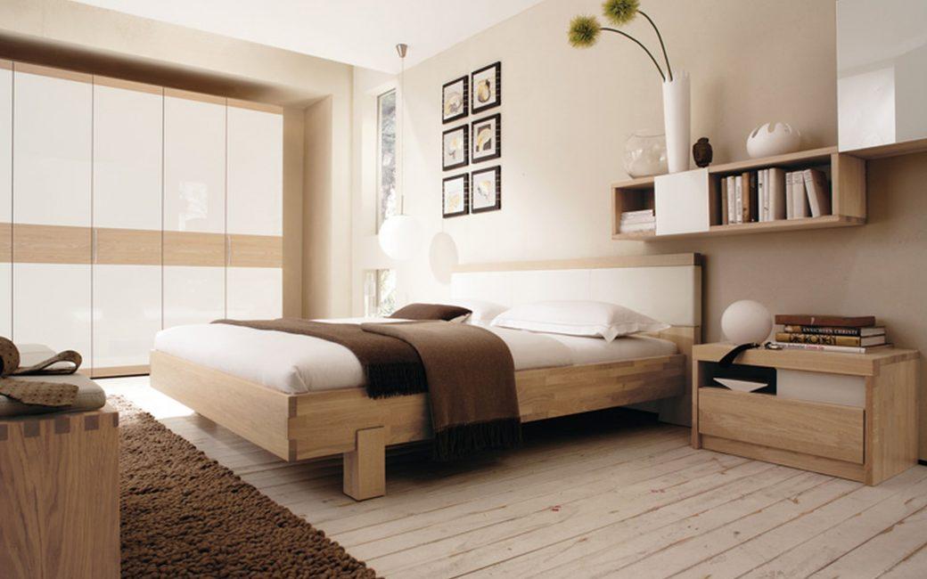 Satu pilihan - lantai kayu di dalam bilik tidur