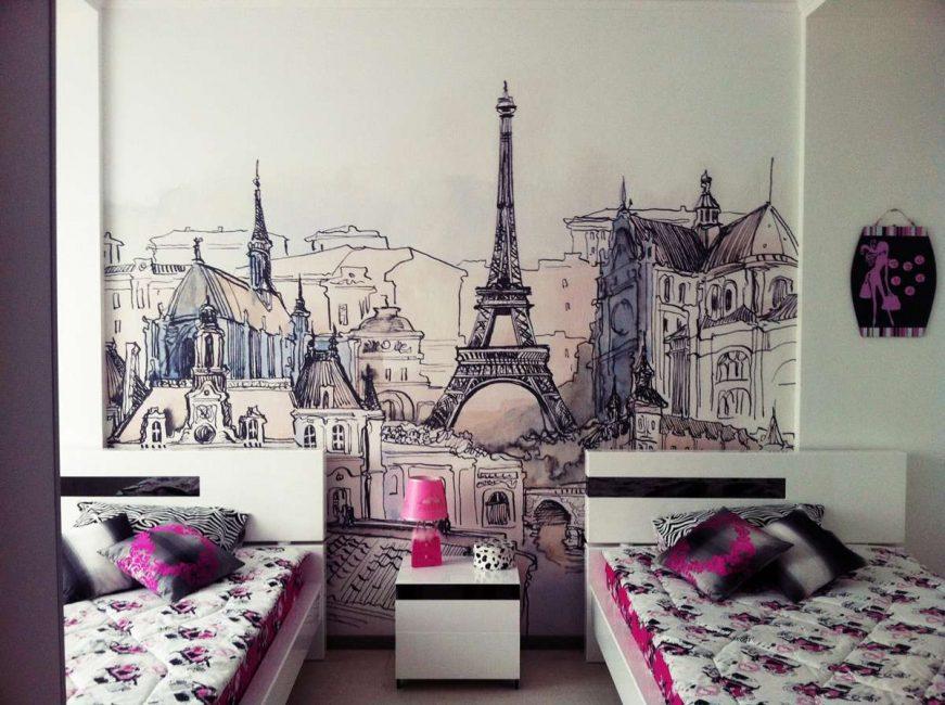 جمال باريس في ظلال لطيفة للفتيات