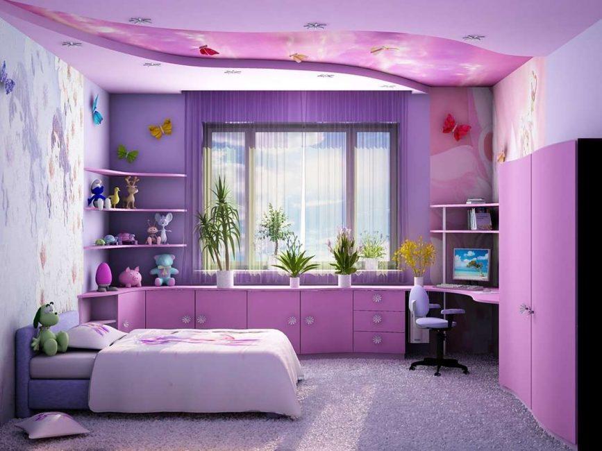 يجب أن تكون الغرفة خفيفة ولا تشوش الأثاث.
