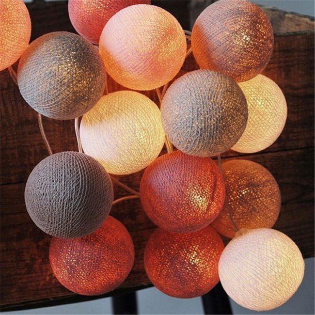 Dekorasyon için pamuk topları