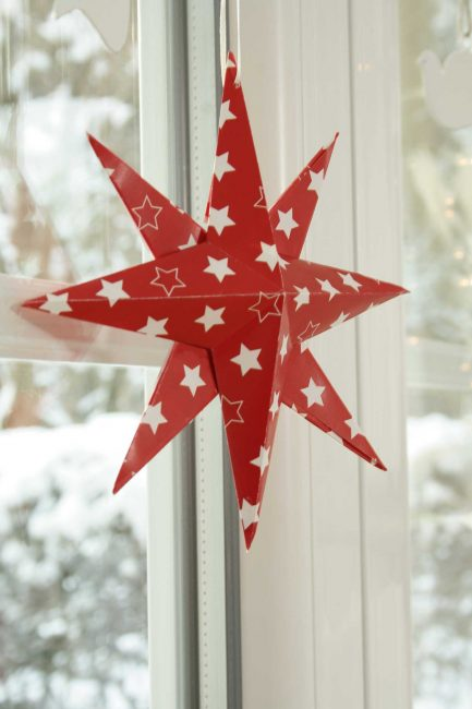 Origami Red Star