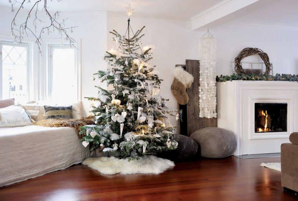 Pokok natal dalam gaya bilik