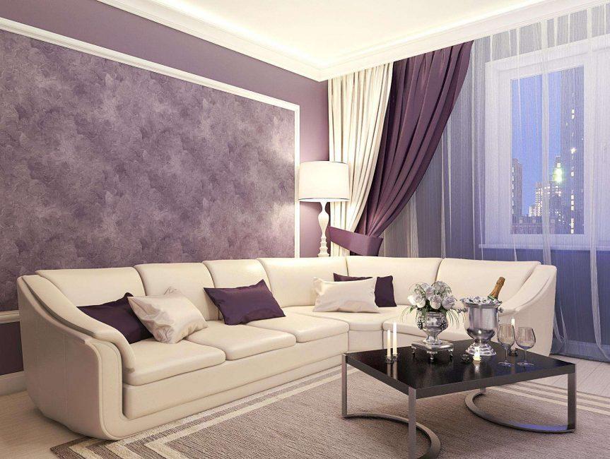 Interior ruang tamu mewah