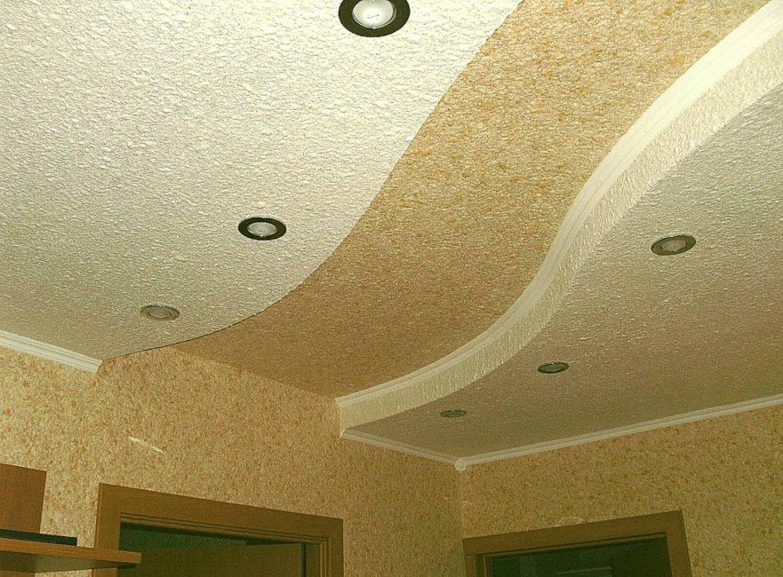 Dinding hiasan cecair siling