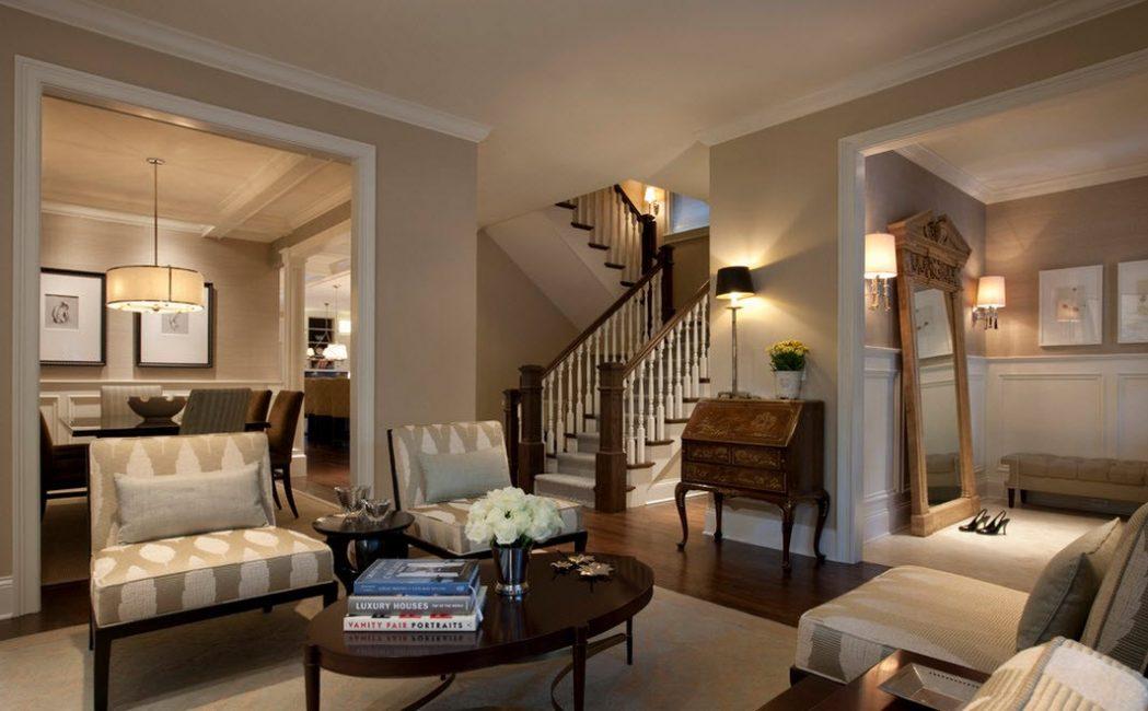 Nötr kahverengi tonlar, herhangi bir tasarım stili için uygun bir arka plan olabilir.