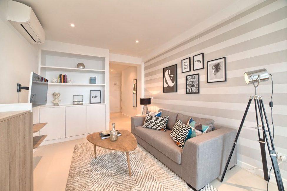 Krem ve bej renk tonları genellikle iç mekanlarda duvar rengi olarak kullanılır.