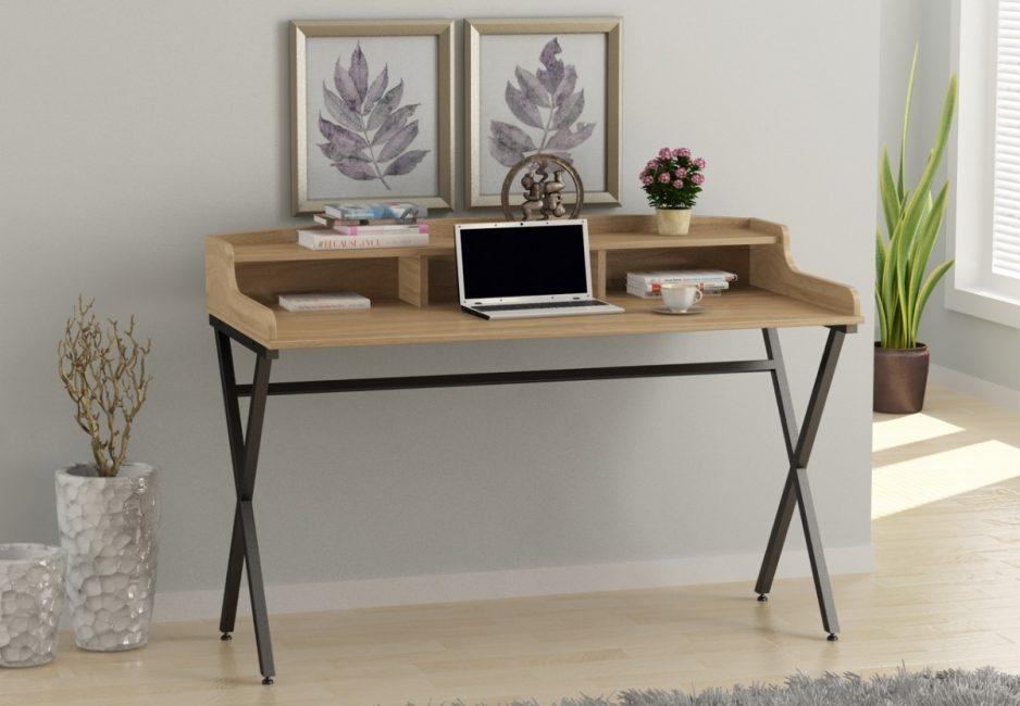 Il design della scrivania nello stile di un loft può essere molto diverso