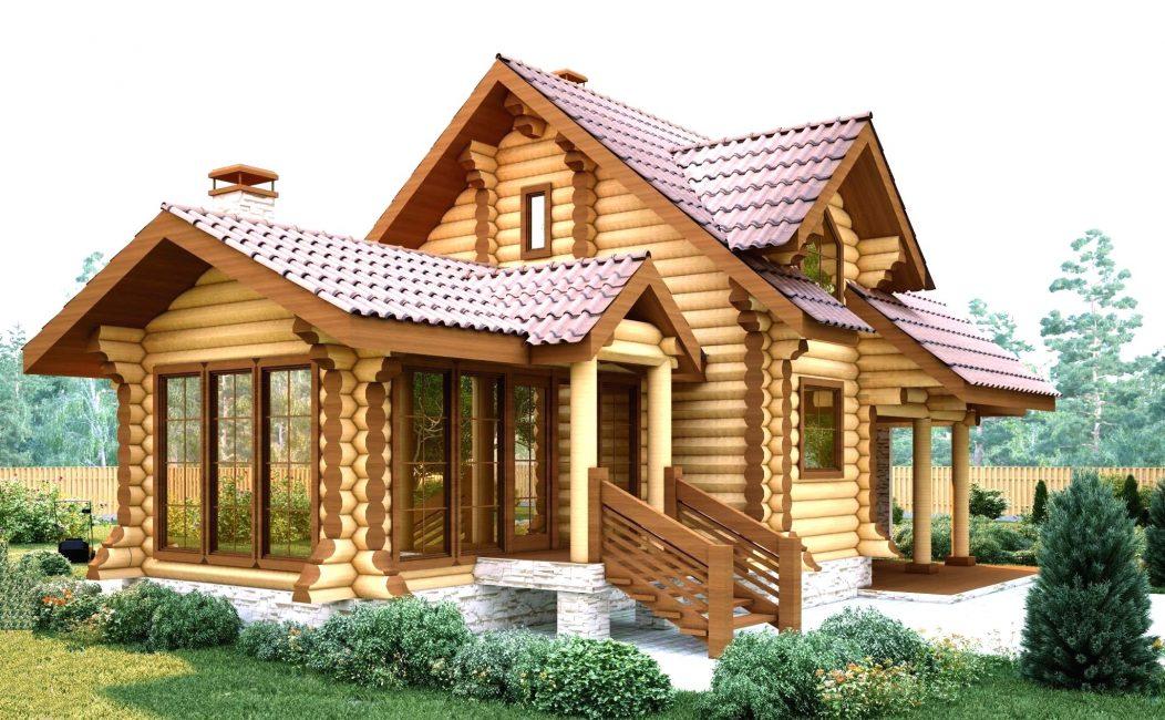 Rumah kayu dicirikan oleh keselesaan, keselamatan lengkap bagi tubuh manusia