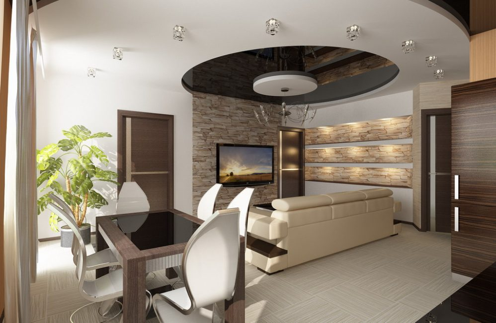 Studio lounge with dining space