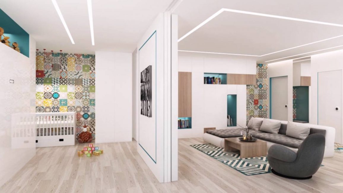 Studio apartment for a family with a child