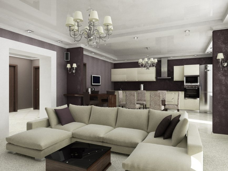 Pastel colors for increased space