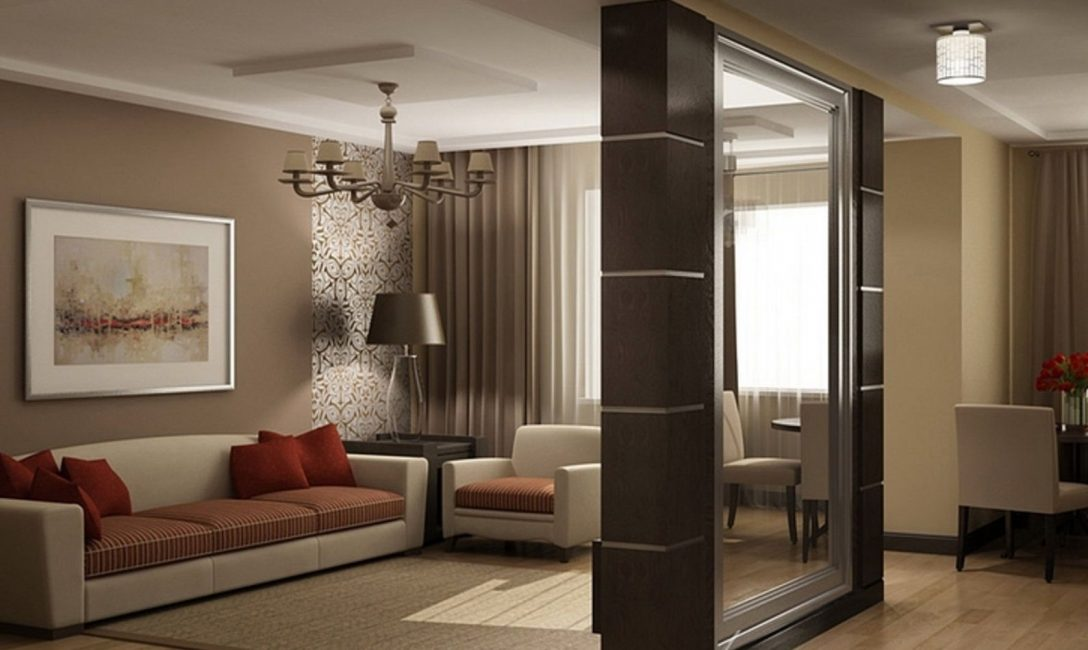 Mirrors will visually increase the room