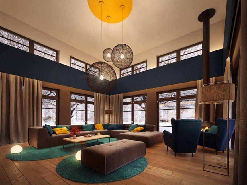Moden - salah satu trend paling moden dalam reka bentuk dalaman