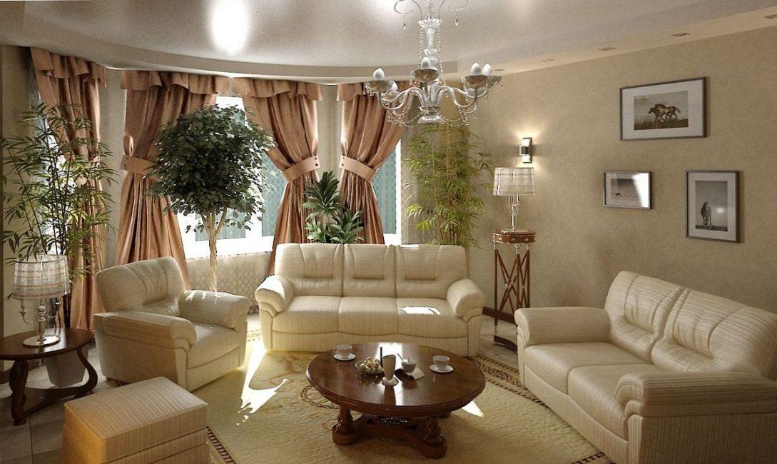 Stili di design del salone: 180+ (foto) Interni stupendi