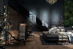 Facciamo l'interno in nero: tende / carta da parati / soffitto (185 + foto). Accento luminoso del tuo design