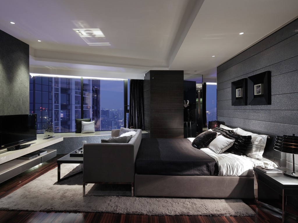 Tek renkli palet - bir yatak odası için uygun bir seçim