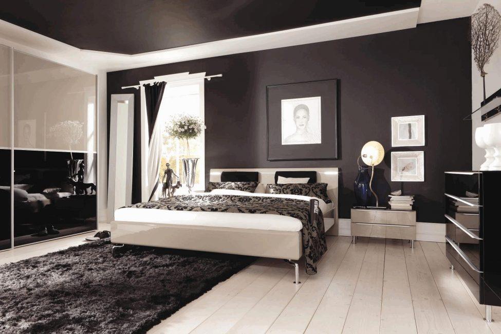 İç kısımdaki siyah nesneler odanın görünümünü daha etkileyici hale getirecek.