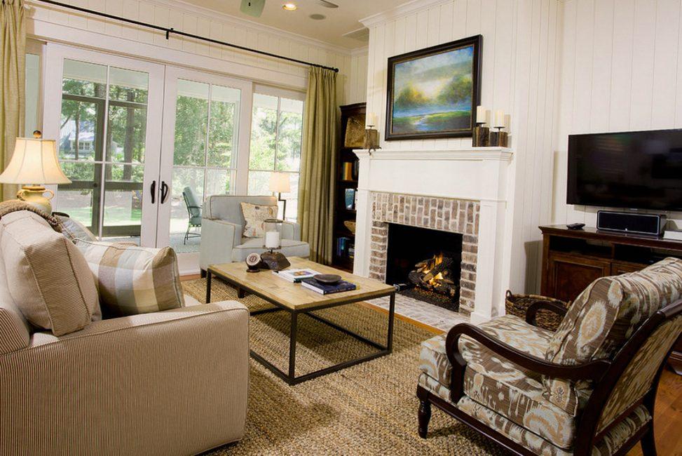 Perapian tidak boleh terletak di sudut bilik supaya ia dapat memanaskan seluruh ruangan.