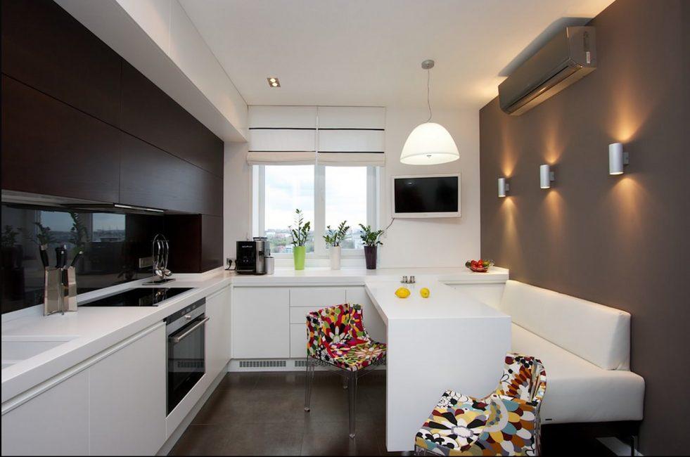 Untuk dapur kecil sofa mini yang sesuai