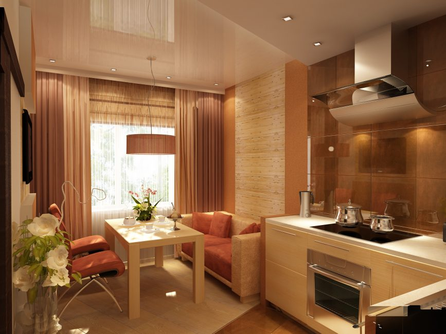 Sarung yang boleh ditanggalkan boleh menjadi pilihan yang baik untuk sofa di dapur