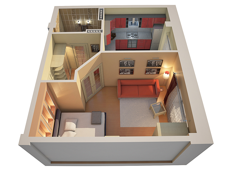 Option competent apartment layout