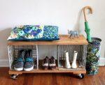 Hall con mensole per scarpe e vestiti Le mani: 125+ opzioni di foto (con un sedile, con un gancio, con una panca e non solo)