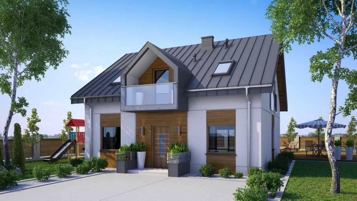 Finans ve küçük bir arsa varlığında, iki katlı bir yapı inşa etmek daha iyidir.