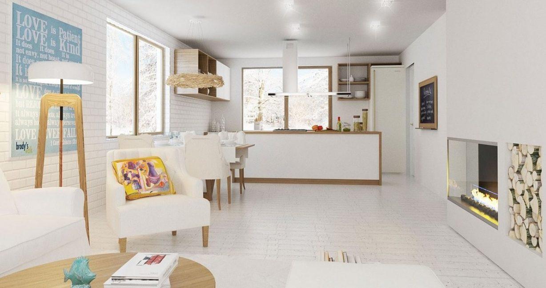 Dapur cantik dalam warna-warna cerah