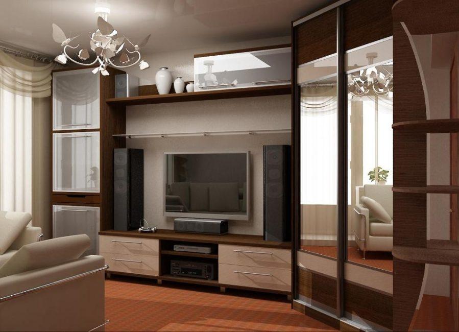 Akan membolehkan visual meningkatkan ruang apartmen,