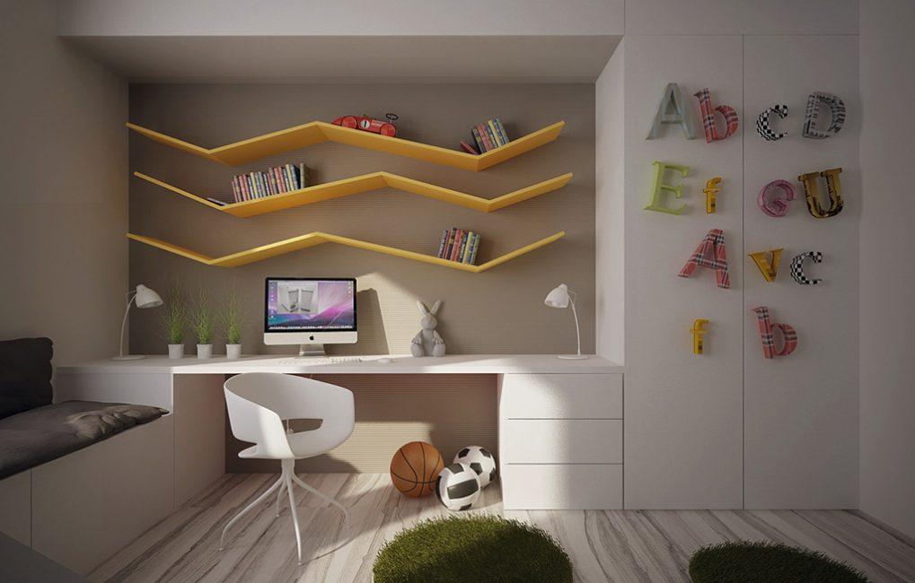 Questo è uno spazio che delizierà i piccoli amanti delle cose futuristiche.