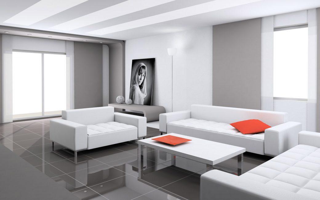 La caratteristica principale di questo stile è l'abbondanza di spazio nella stanza.