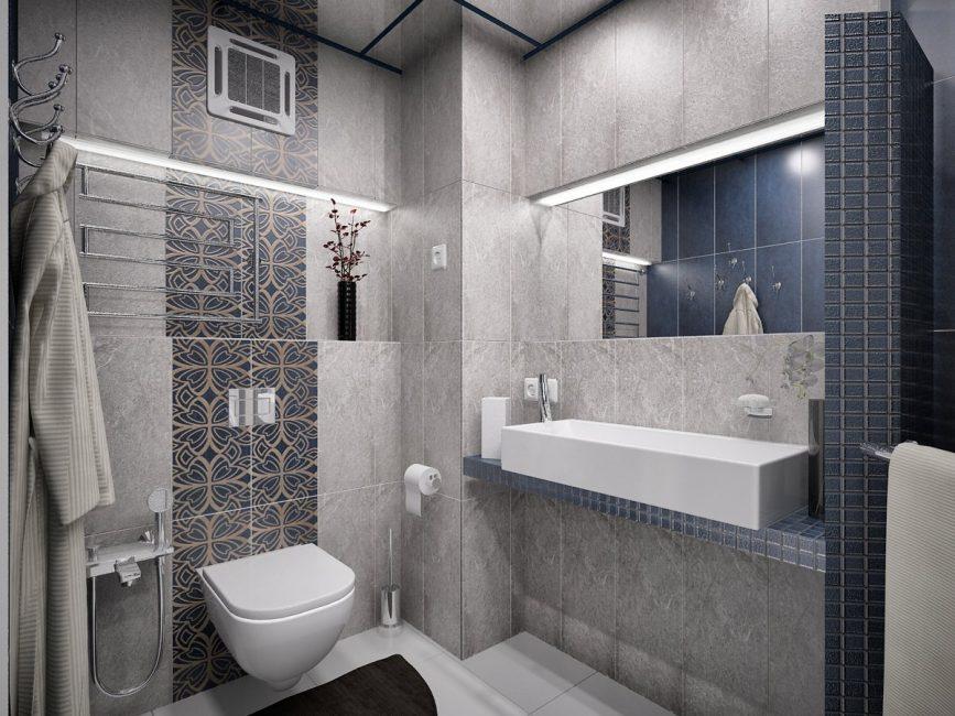 Opzione di un piccolo bagno in questo stile