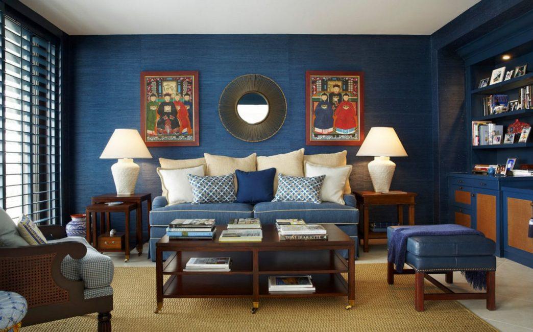Blue untuk bilik besar sahaja