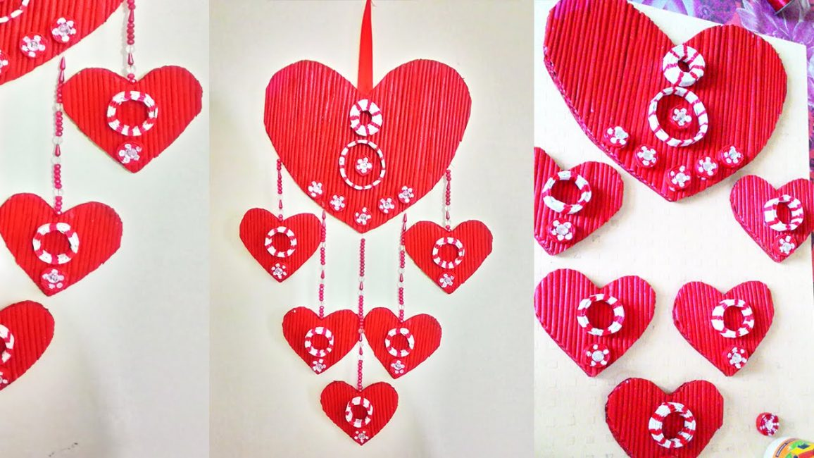 Kalp şeklinde gazete kolye - güzel ve romantik